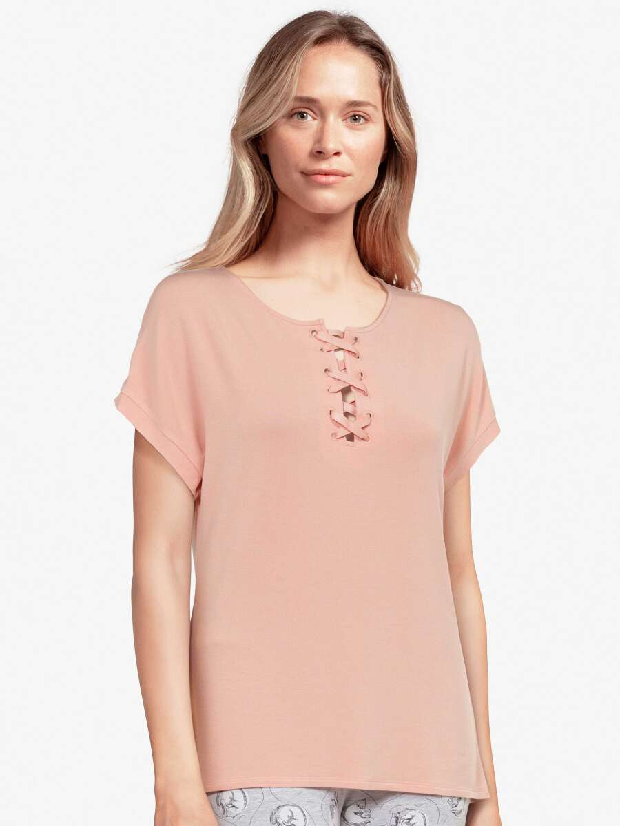 Rose Haut de pyjama - Kitty 1