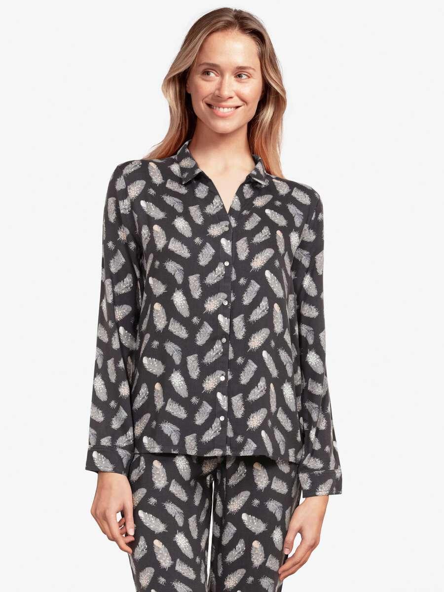 Gris Haut de pyjama - Plume 1